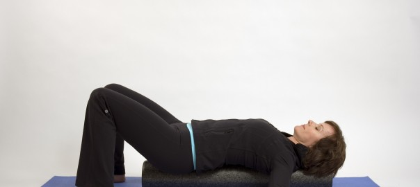 Relax your back on a foam roller